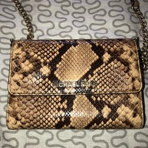 Michael Kors Leopard Crossbody Wallet